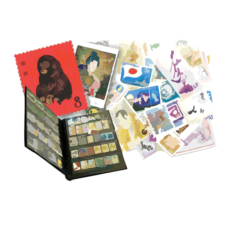 「ばら切手とブックと中国切手一式」460,000円!