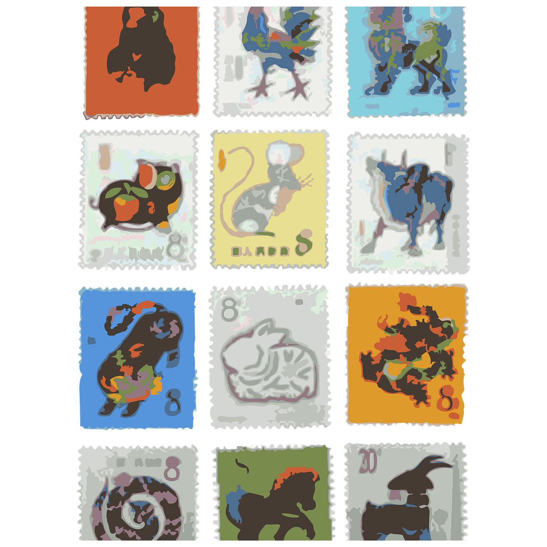 「中国切手干支セット 12種」168,000!