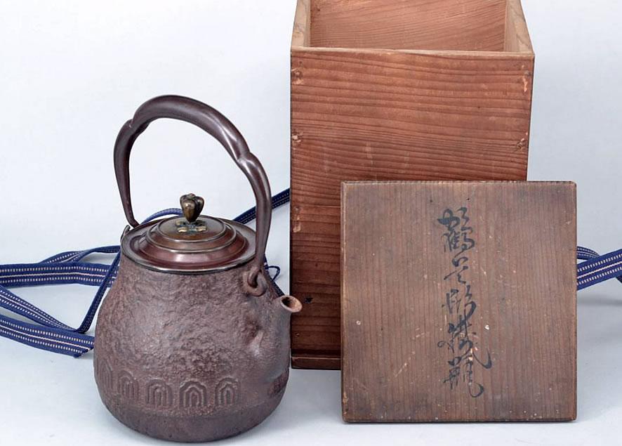 「【金寿堂 名人雨宮宗造】鉄瓶共箱」350,000円!