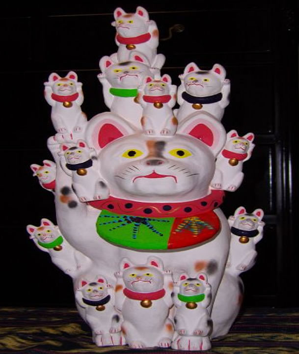 「伏見人形 招き猫」200,000円!