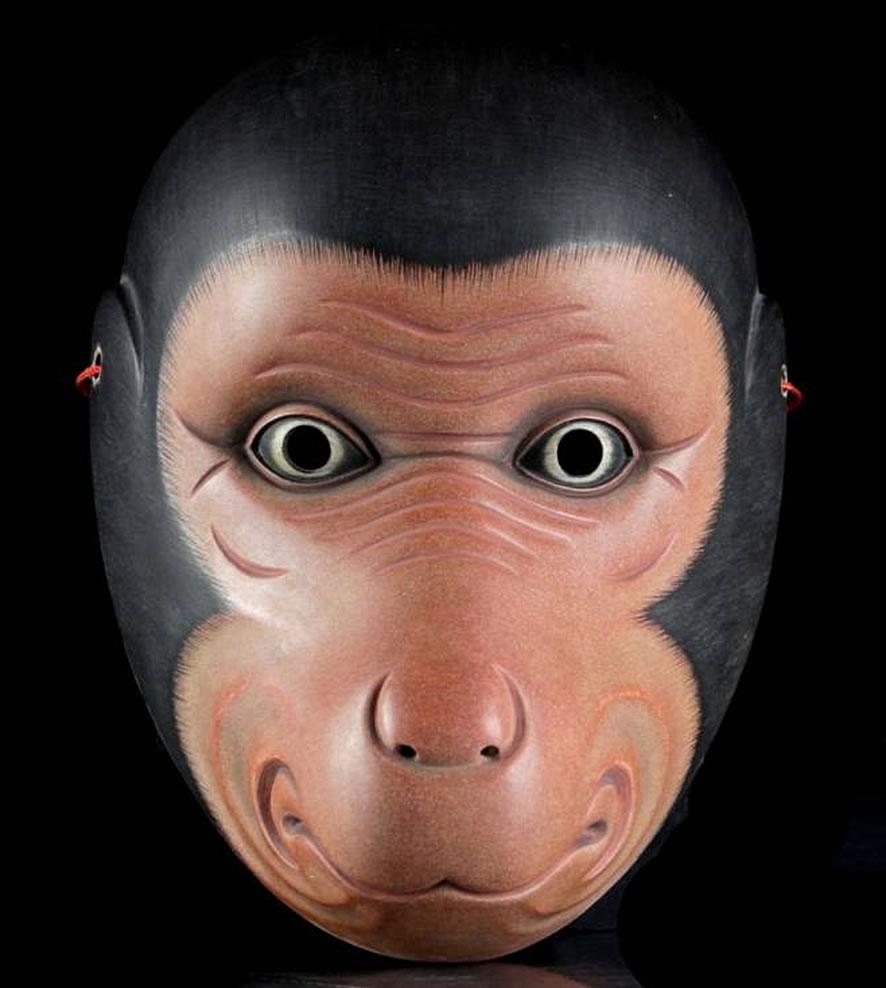 「【時代物】猿面 神楽面・能面」140,000円!