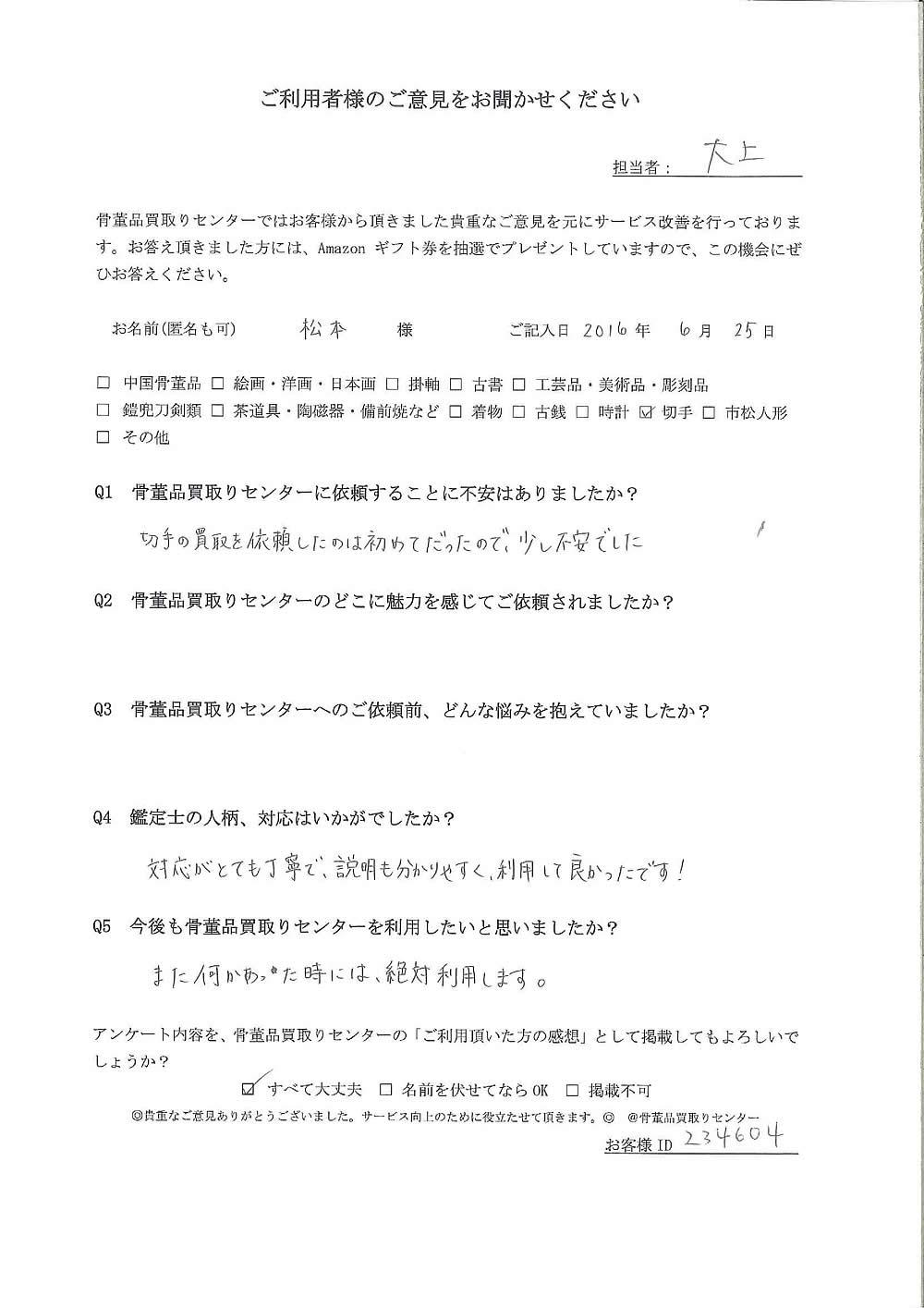 【東京】切手買取り ご利用者様の声